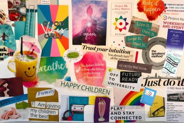 good vibes vision board   how to make a vision board   vision board categories