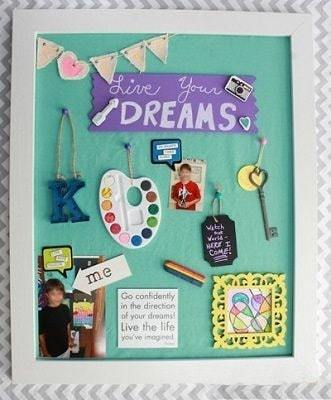 live your dreams   vision board worksheet for students pdf   vision board ideas for students