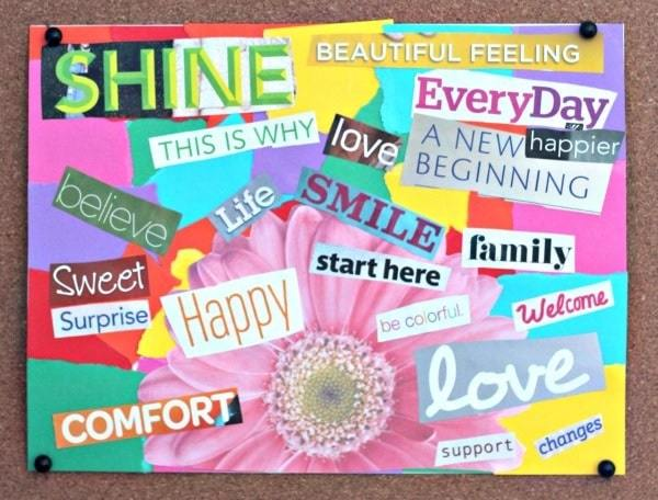 shine   vision board for students   how to make a vision board