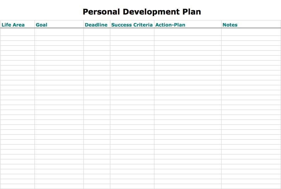 minimalist pdp | personal development plan for work | professional development plan template