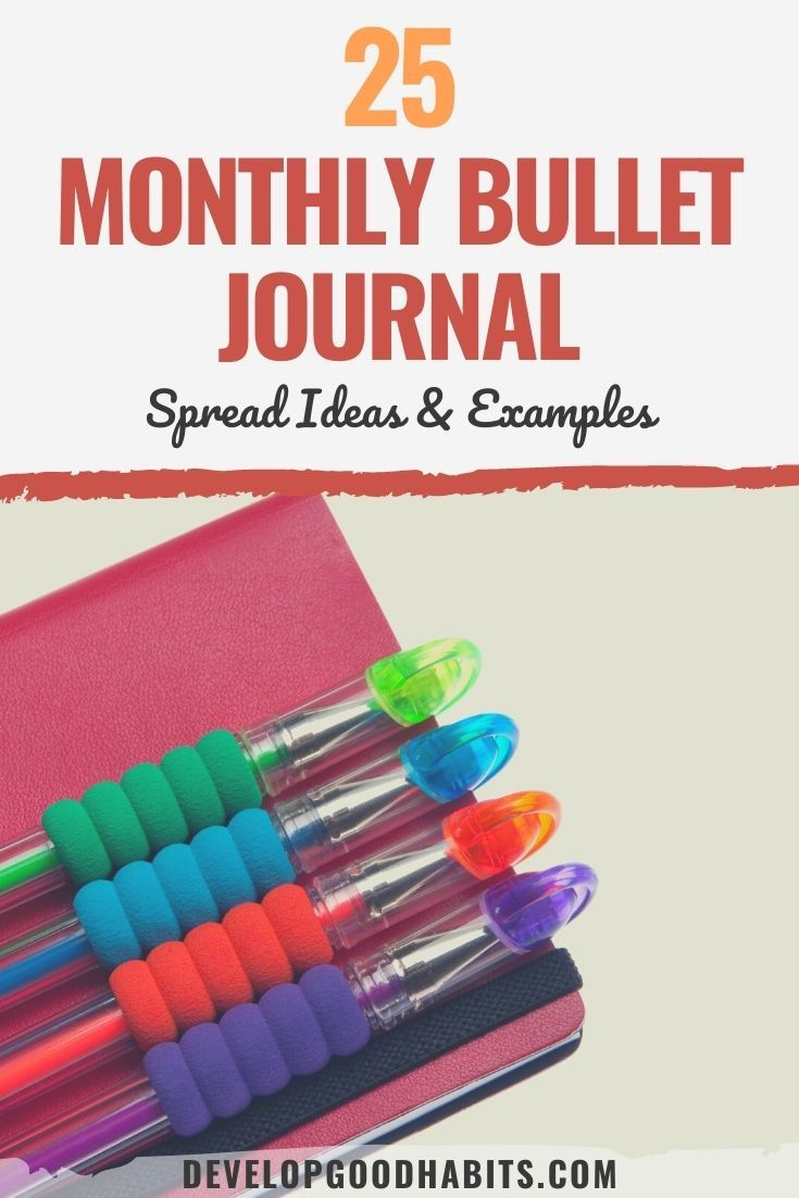 25 Monthly Bullet Journal Spread Ideas & Examples