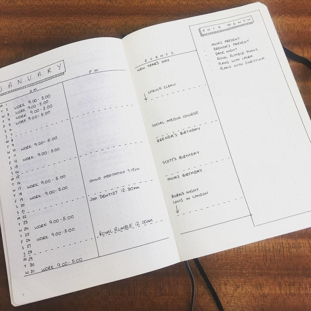 the minimalist spread | bullet journal monthly themes | bullet journal monthly spread minimalist