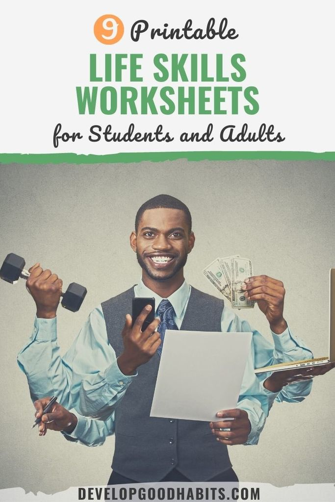 life skills worksheets | life skills worksheets for adults | free printable life skills worksheets