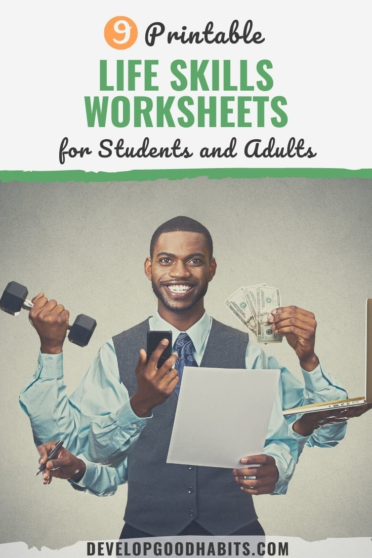9 Printable Life Skills Worksheets for Students and Adults